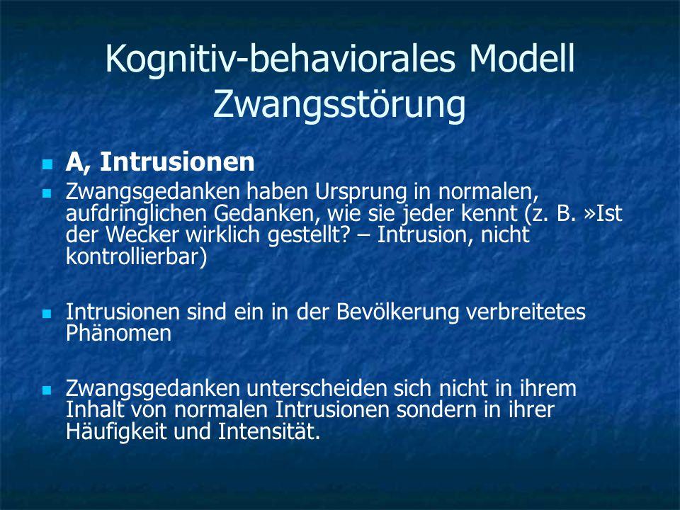 Kognitiv-behaviorales Modell Zwangsstörung