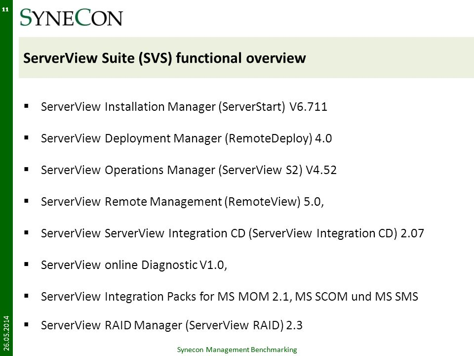 ServerView Suite (SVS) functional overview