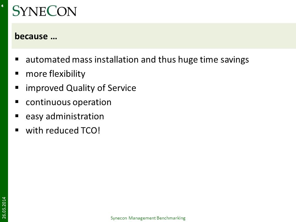 Synecon Management Benchmarking
