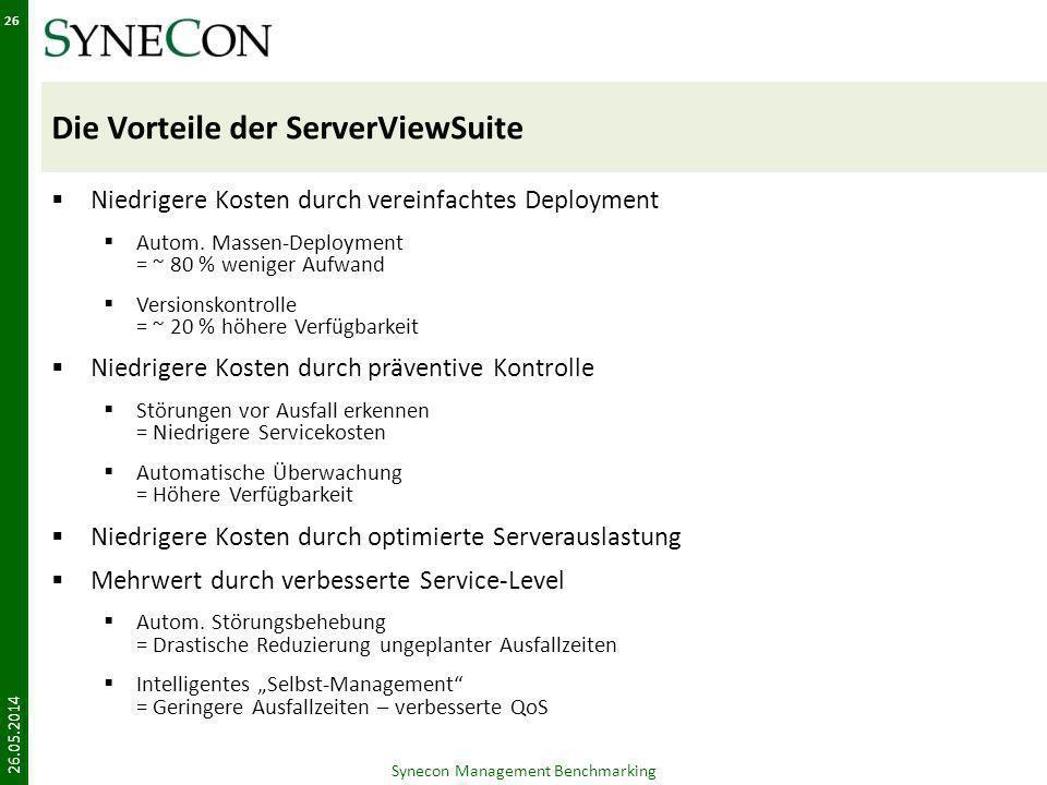 Die Vorteile der ServerViewSuite