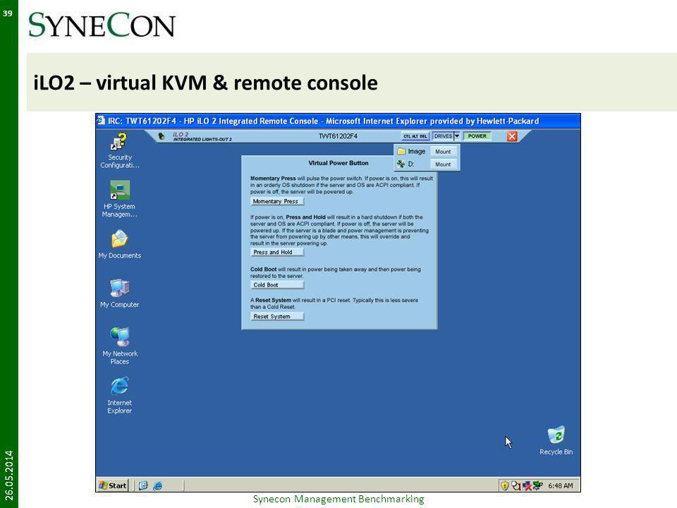 iLO2 – virtual KVM & remote console