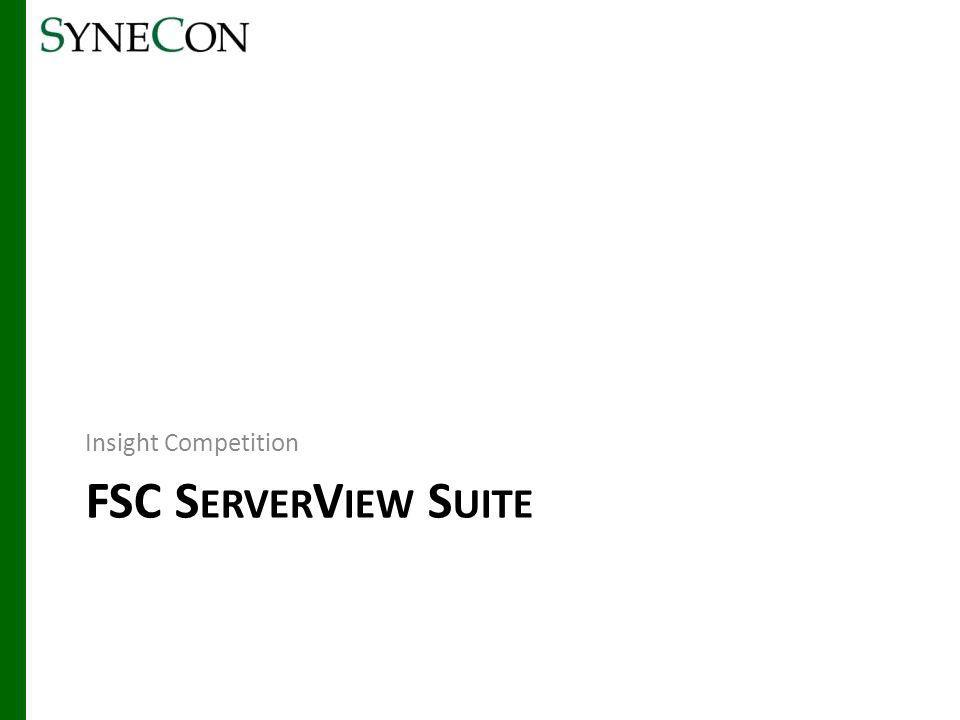 Insight Competition FSC ServerView Suite