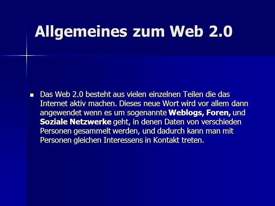 Allgemeines zum Web 2.0