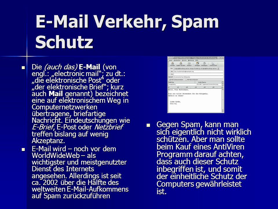 E-Mail Verkehr, Spam Schutz