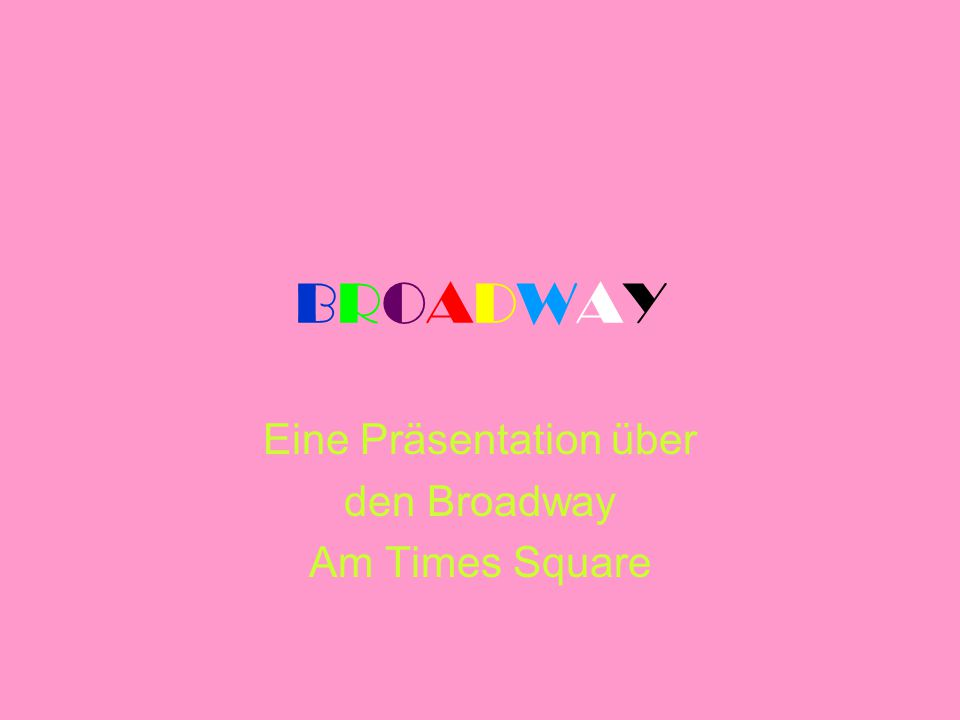 Eine Präsentation über den Broadway Am Times Square