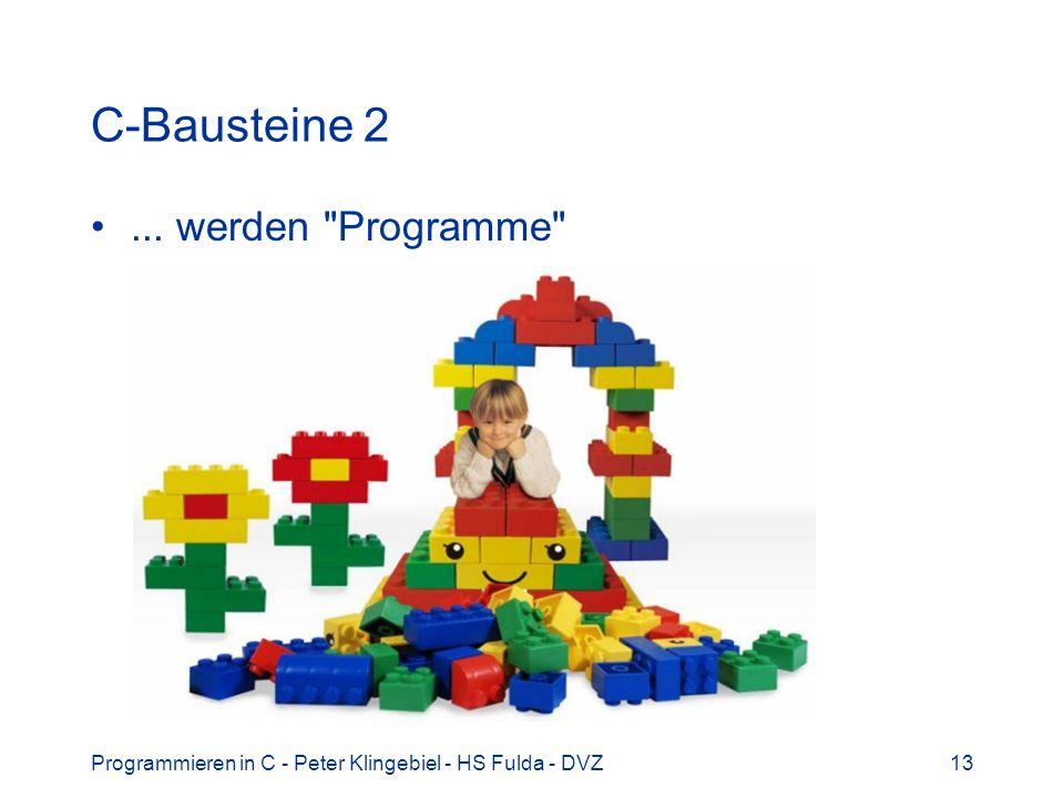 C-Bausteine 2 ... werden Programme