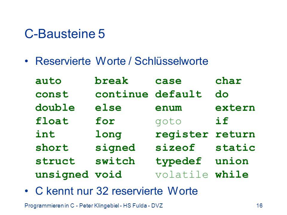 C-Bausteine 5