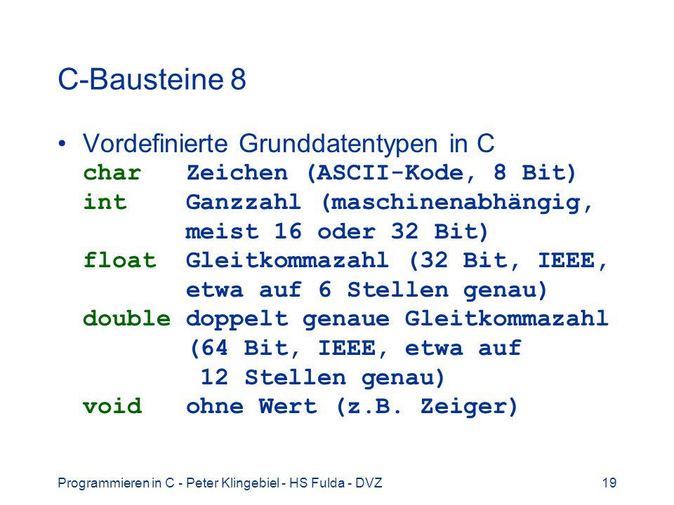 C-Bausteine 8