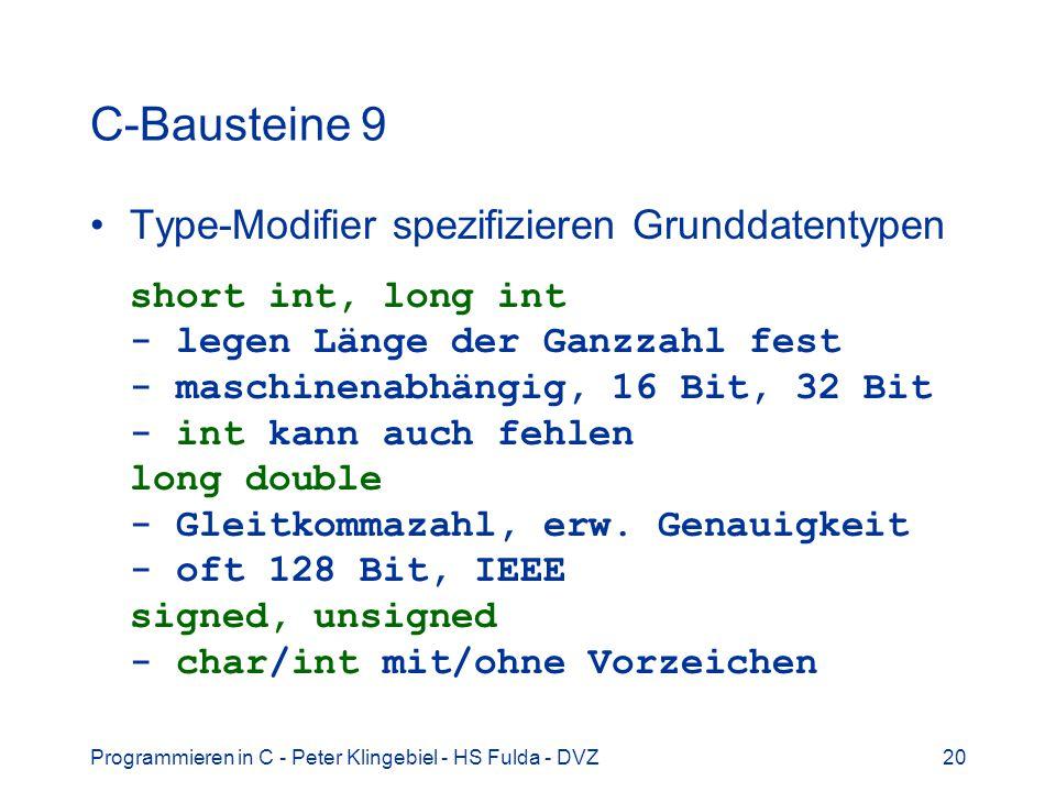 C-Bausteine 9