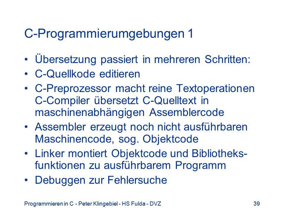 C-Programmierumgebungen 1