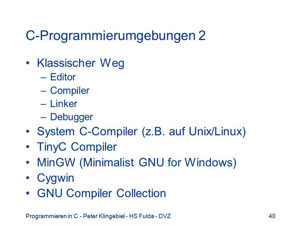 C-Programmierumgebungen 2