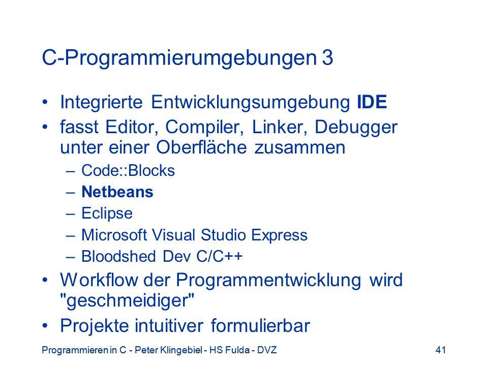 C-Programmierumgebungen 3