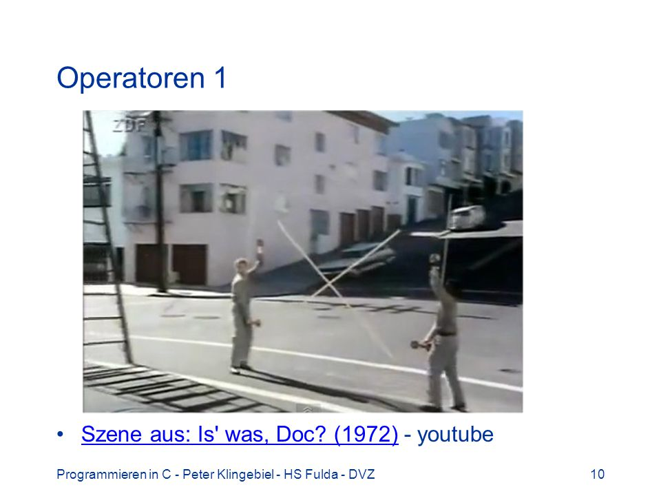 Operatoren 1 Szene aus: Is was, Doc (1972) - youtube