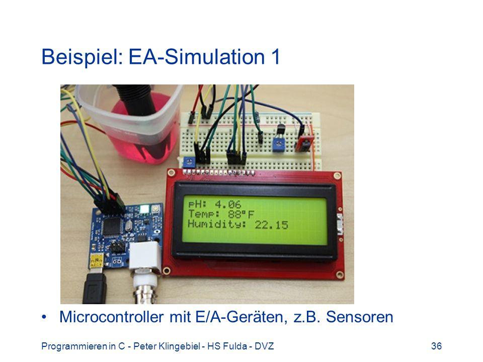 Beispiel: EA-Simulation 1