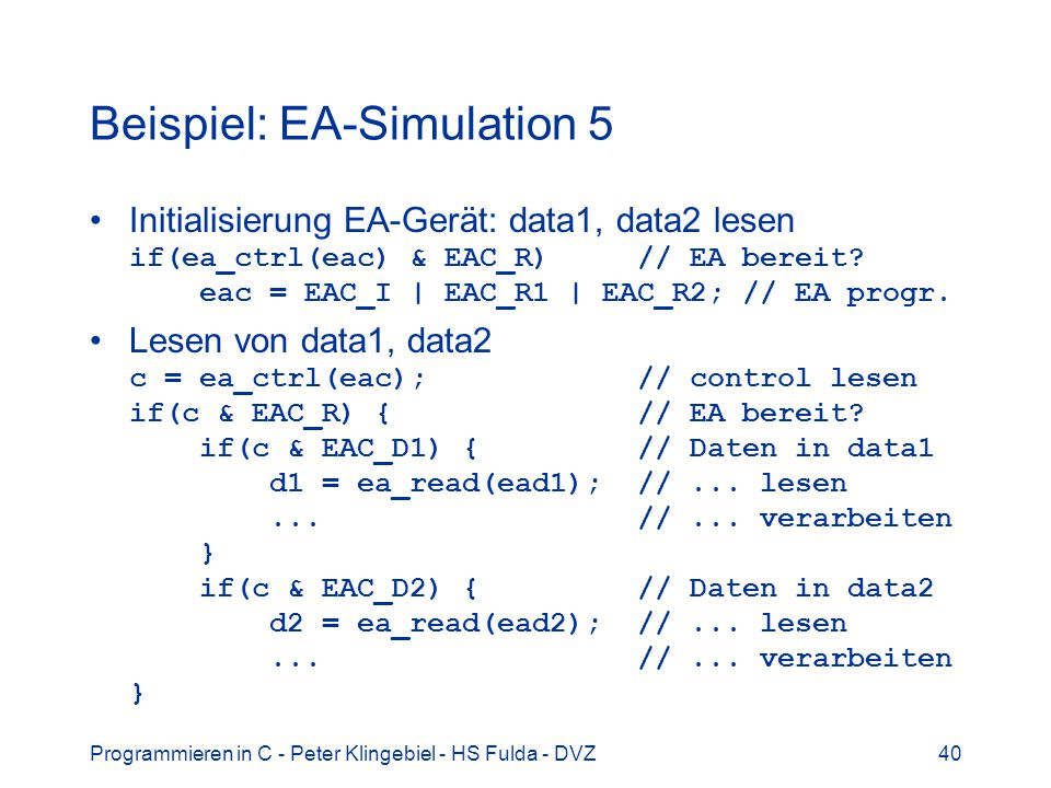 Beispiel: EA-Simulation 5