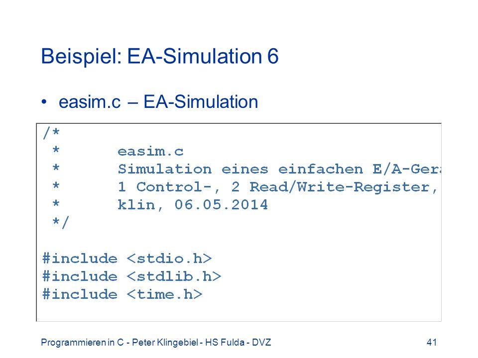 Beispiel: EA-Simulation 6
