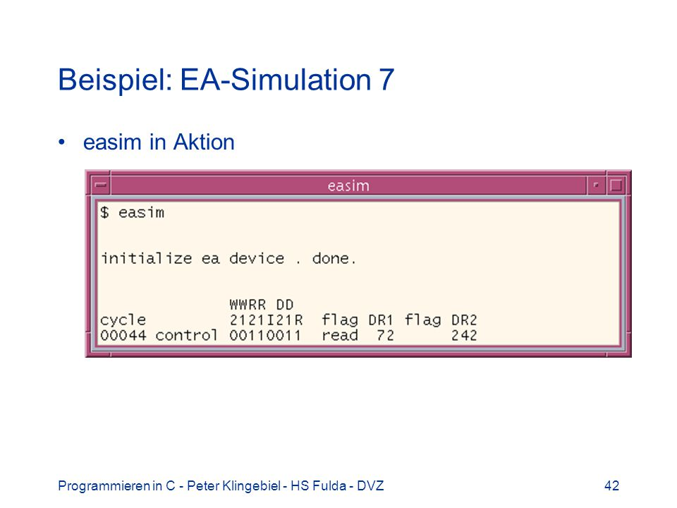 Beispiel: EA-Simulation 7