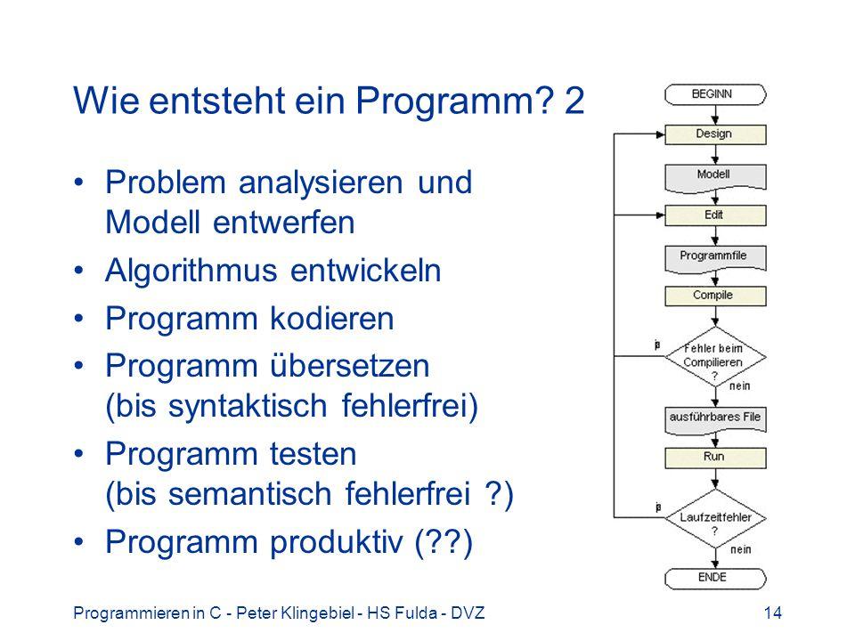 Wie entsteht ein Programm 2