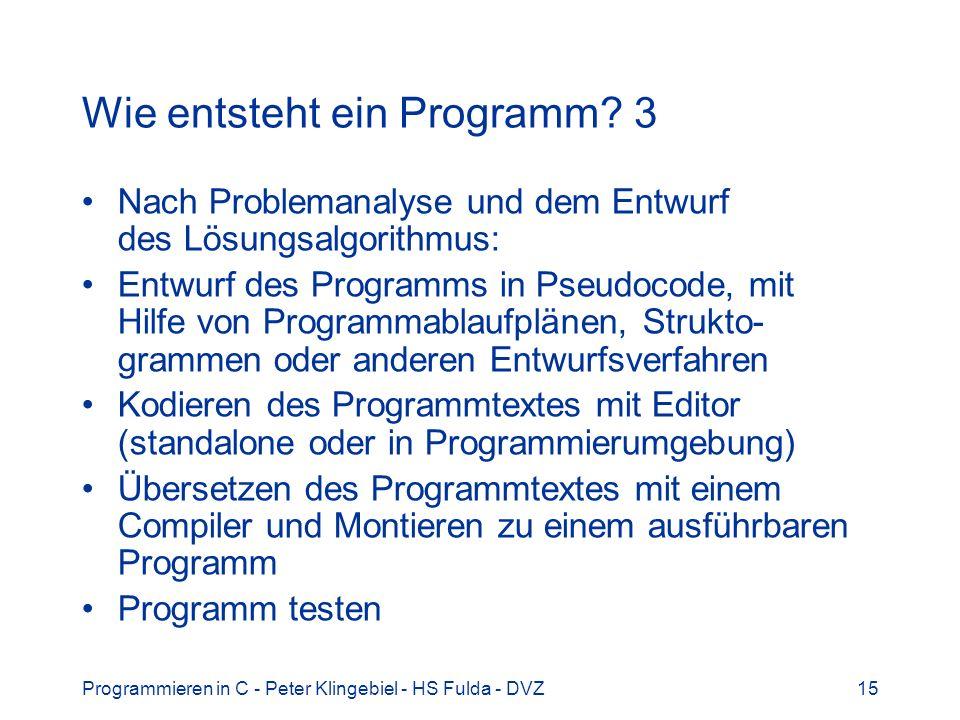 Wie entsteht ein Programm 3