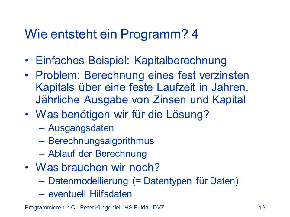 Wie entsteht ein Programm 4