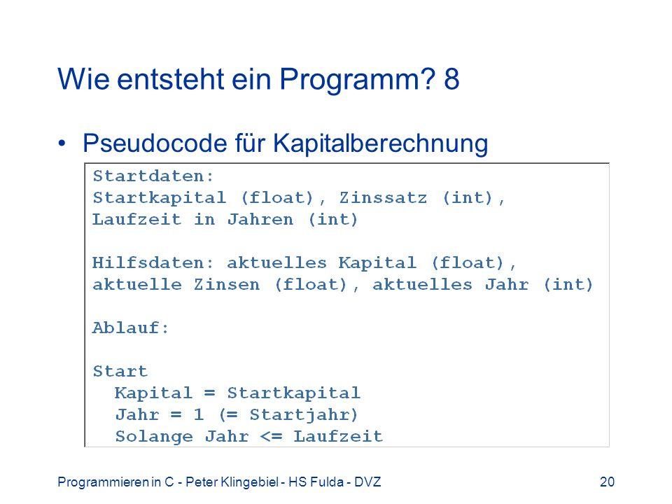Wie entsteht ein Programm 8