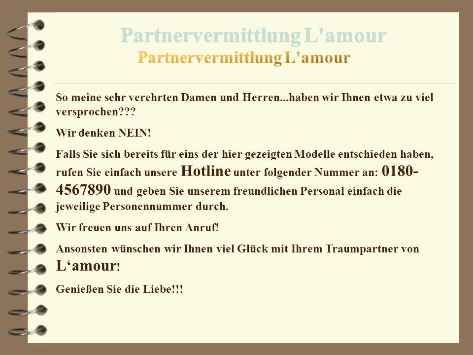 Partnervermittlung L amour