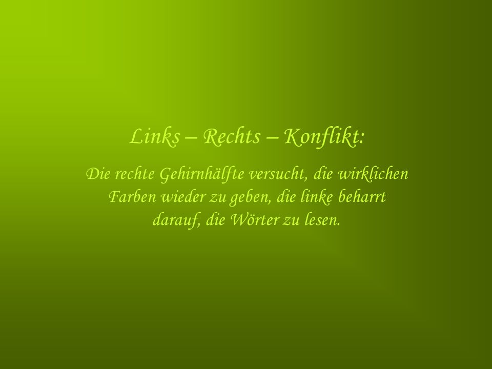 Links – Rechts – Konflikt: