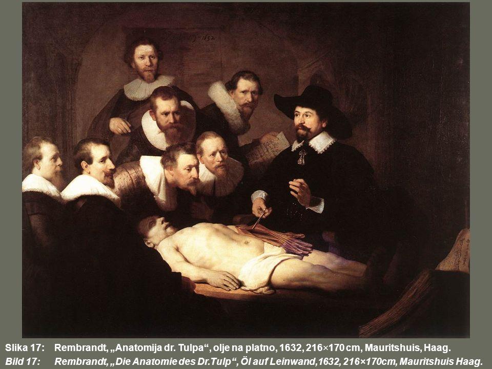 "Slika 17:. Rembrandt, ""Anatomija dr"