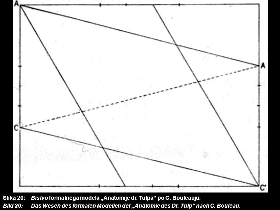 "Slika 20:. Bistvo formalnega modela ""Anatomije dr. Tulpa po C"