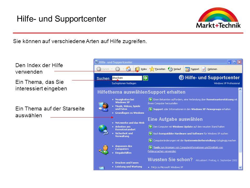Hilfe- und Supportcenter