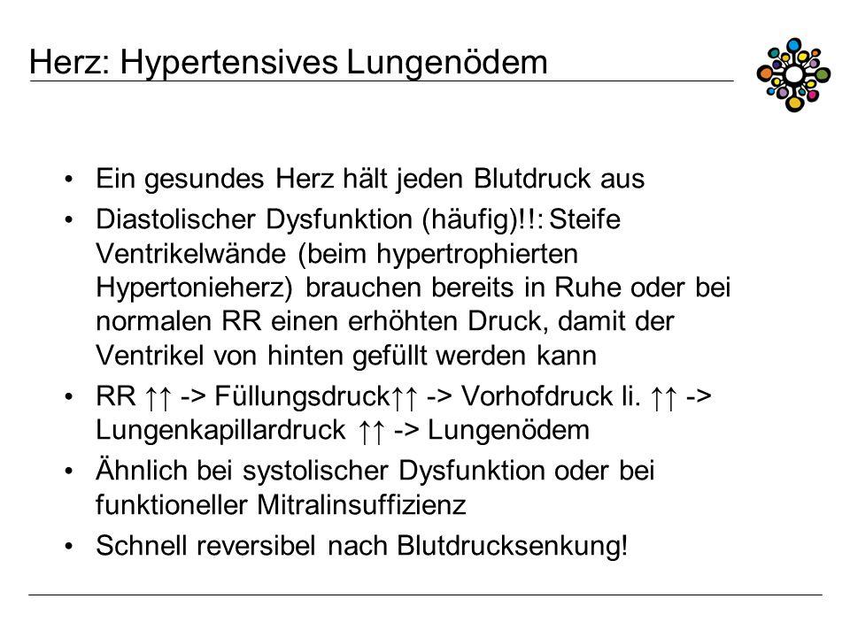 Herz: Hypertensives Lungenödem