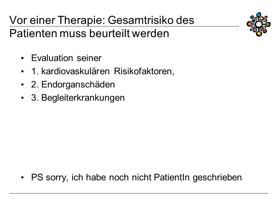 Vor einer Therapie: Gesamtrisiko des Patienten muss beurteilt werden