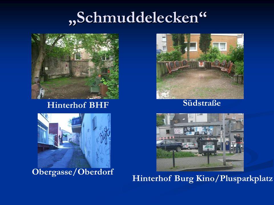 """""""Schmuddelecken Südstraße Hinterhof BHF Obergasse/Oberdorf"""