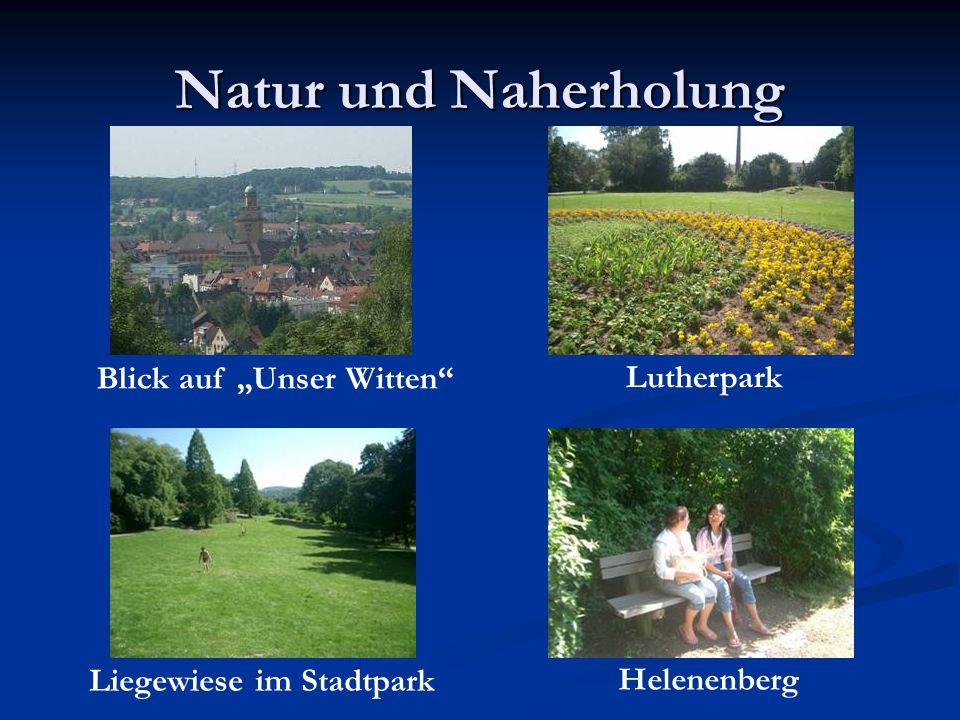 """Natur und Naherholung Blick auf """"Unser Witten Lutherpark"""