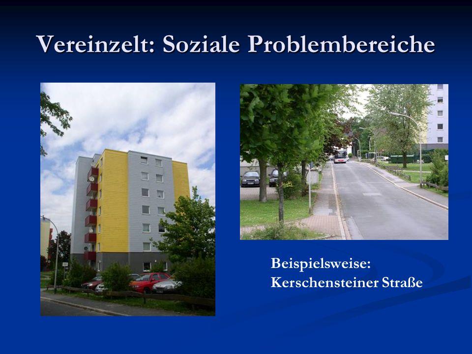 Vereinzelt: Soziale Problembereiche