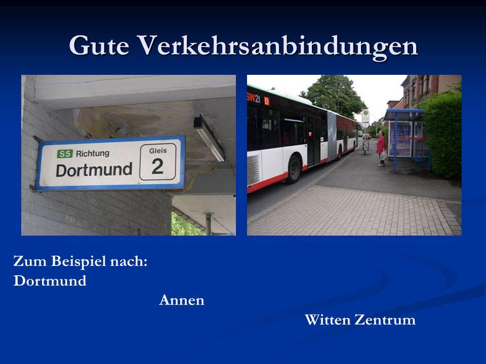 Gute Verkehrsanbindungen