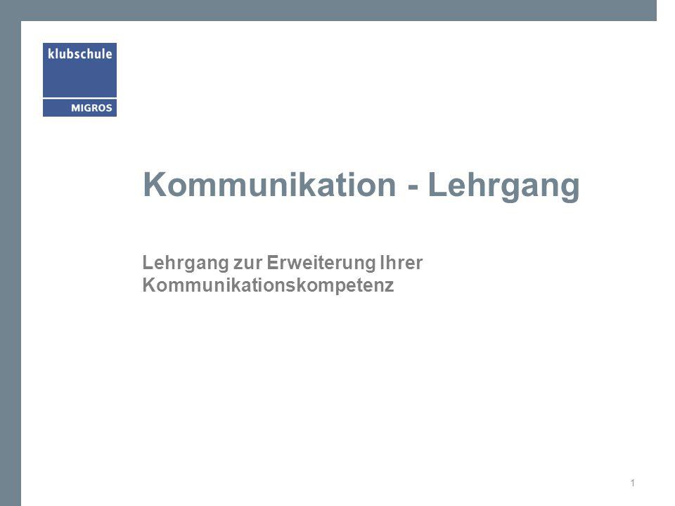 Kommunikation - Lehrgang
