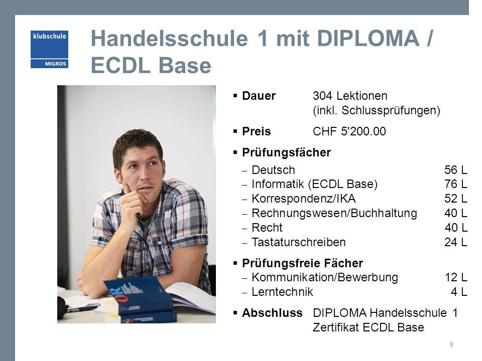 Handelsschule 1 mit DIPLOMA / ECDL Base