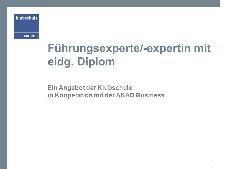 Führungsexperte/-expertin mit eidg. Diplom