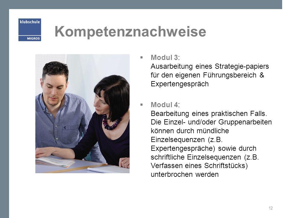 Kompetenznachweise Modul 3: Ausarbeitung eines Strategie-papiers für den eigenen Führungsbereich & Expertengespräch.