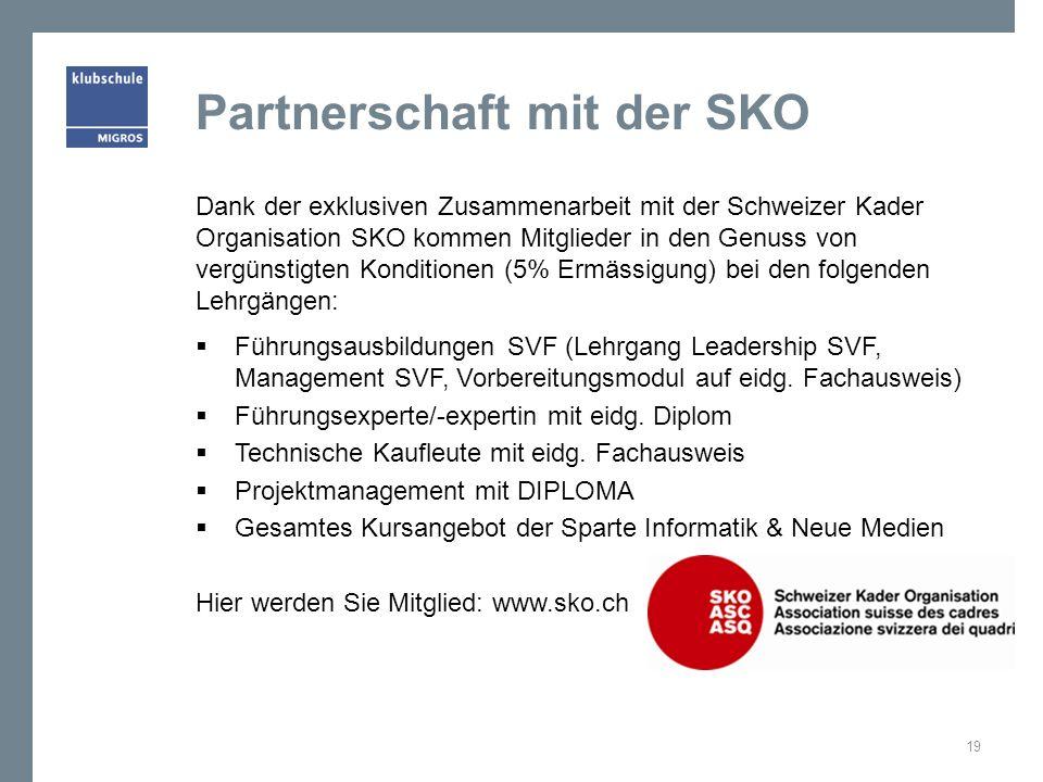 Partnerschaft mit der SKO