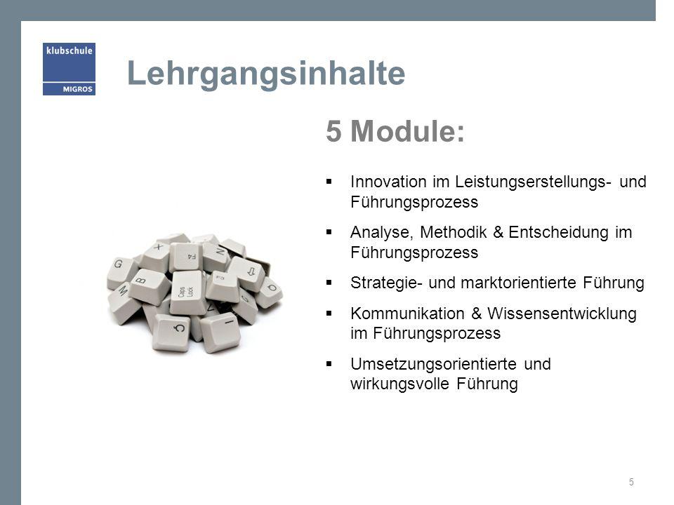 Lehrgangsinhalte 5 Module: