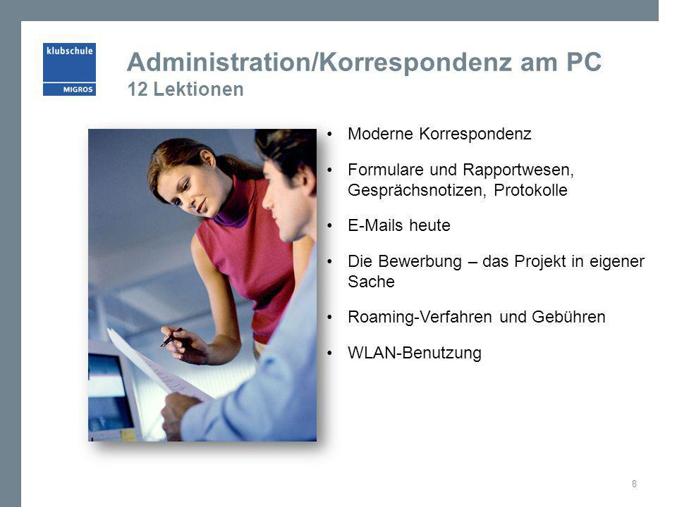 Administration/Korrespondenz am PC 12 Lektionen