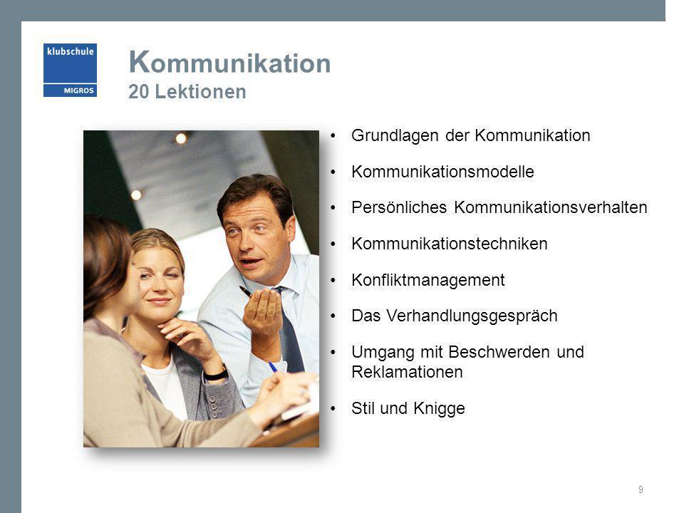 Kommunikation 20 Lektionen