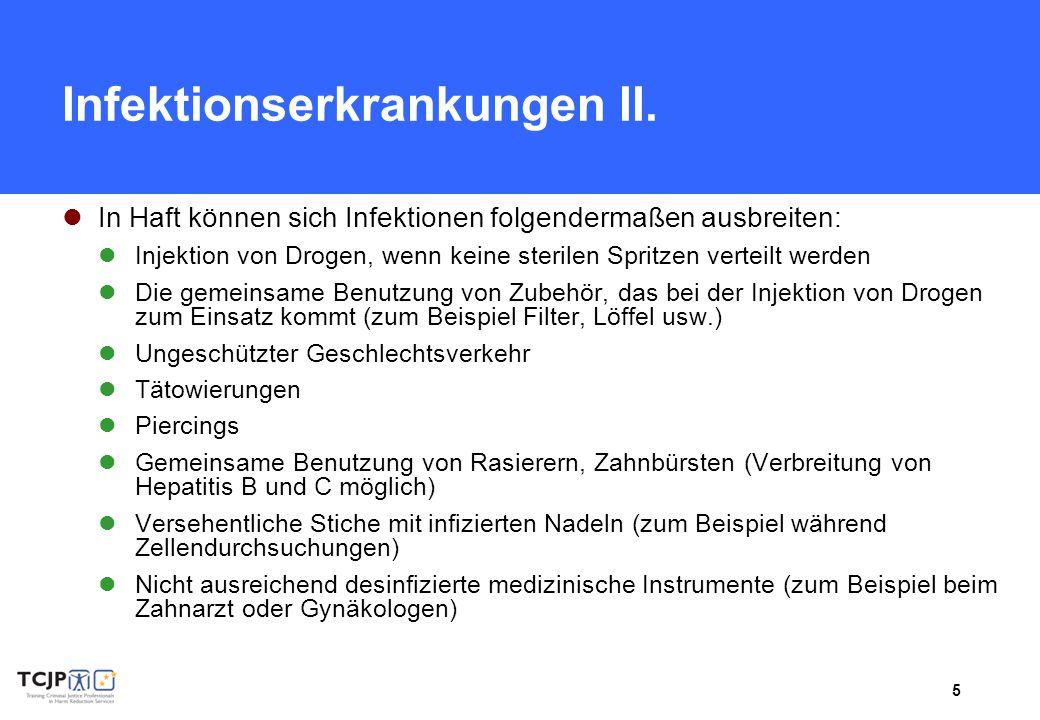 Infektionserkrankungen II.