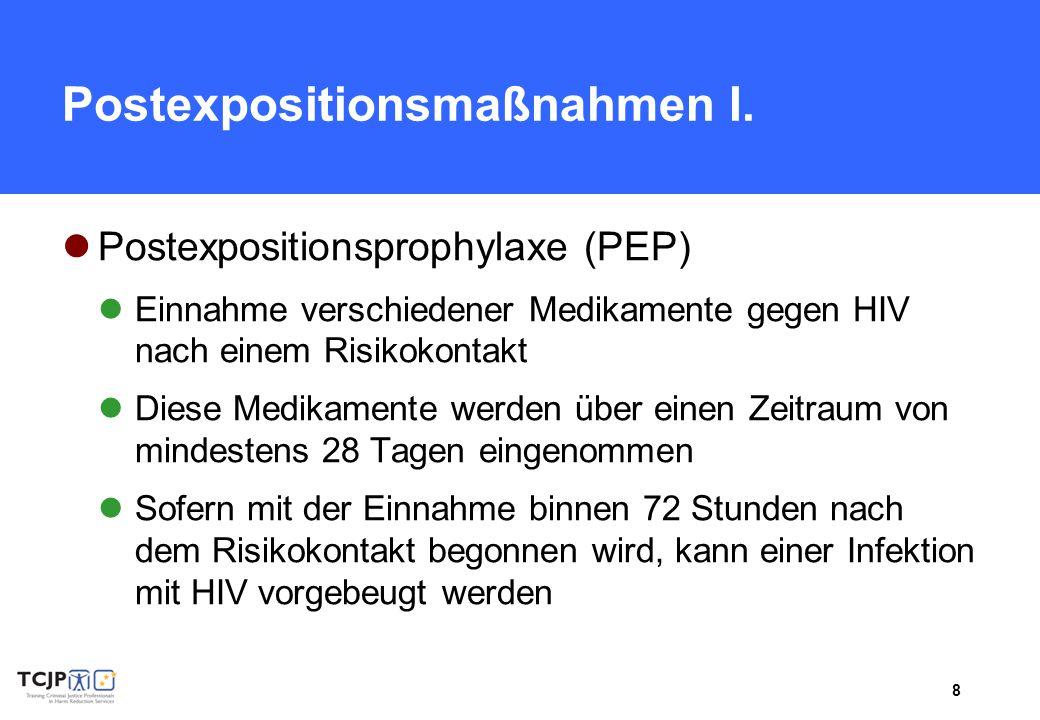 Postexpositionsmaßnahmen I.