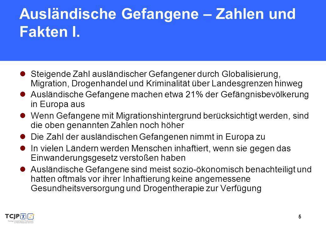 Ausländische Gefangene – Zahlen und Fakten I.