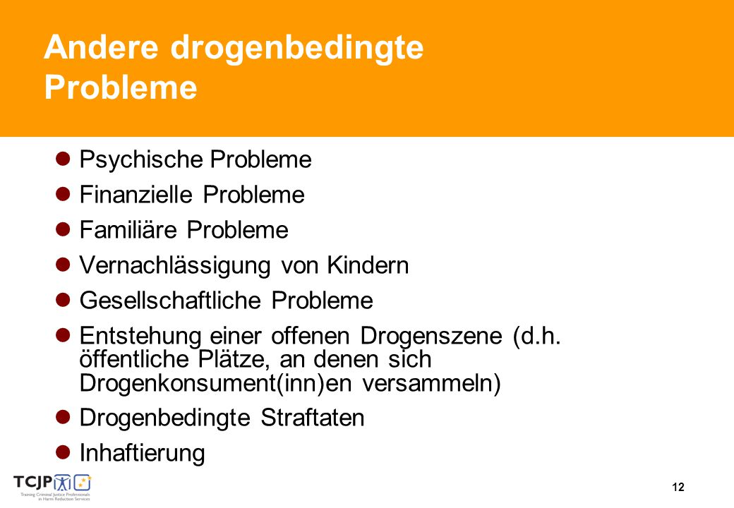 Andere drogenbedingte Probleme