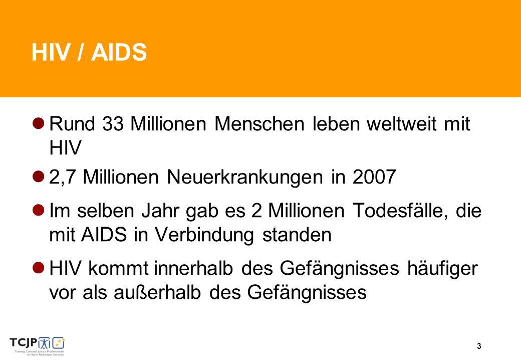 HIV / AIDS Rund 33 Millionen Menschen leben weltweit mit HIV