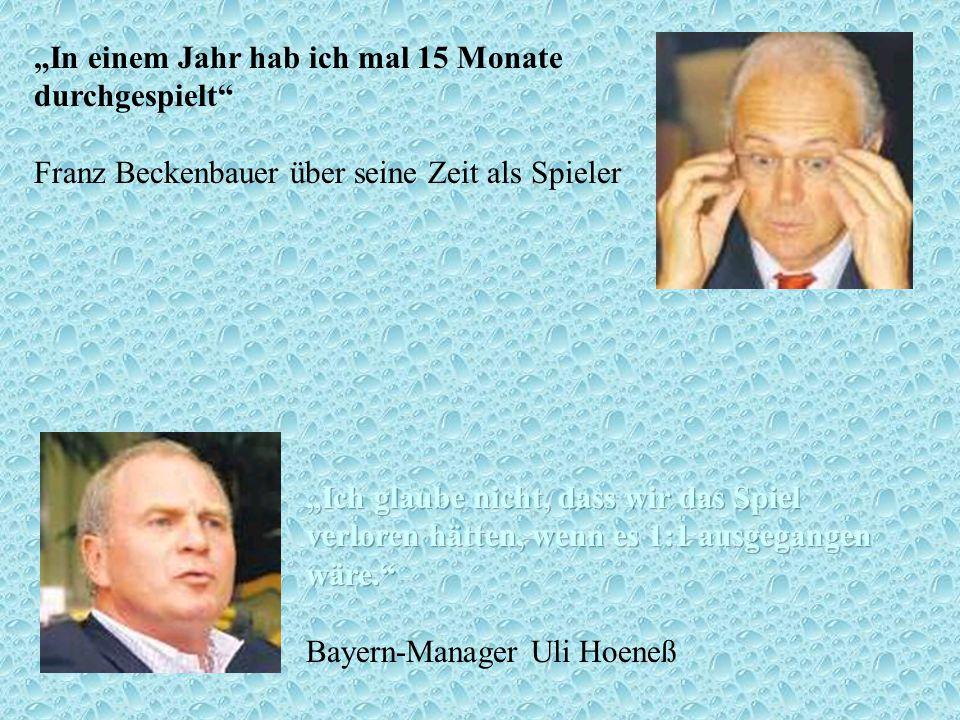 """""""In einem Jahr hab ich mal 15 Monate durchgespielt Franz Beckenbauer über seine Zeit als Spieler"""